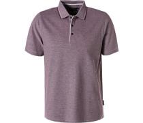 Polo-Shirt, Baumwoll-Piqué, dunkel
