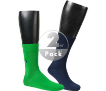 Socken, Baumwolle, grün-navy