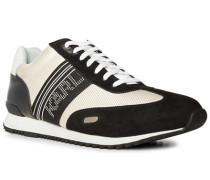 Schuhe Sneaker, Leder, schwarz-