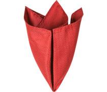 Accessoires Einstecktuch, Seide, rot gemustert