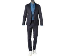 Anzug Anfred-Heiron, Extra Slim Fit, Baumwoll-Stretch