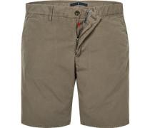 Hose Bermudashorts, Modern Fit, Baumwolle, khaki