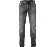 Jeans, Slim Straight Fit, Baumwoll-Stretch, dunkel