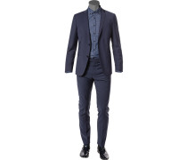 Anzug, Slim Fit, Wolle, navy