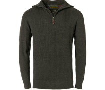 Pullover Troyer, Baumwolle, stahl