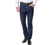 Jeans, Regular Fit, Baumwoll-Stretch, indigo