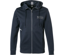 Sweatjacke, Regular Fit, Baumwolle, navy