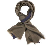 Schal, Seide, oliv-blau