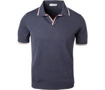 Polo-Shirt, Baumwolle, navy