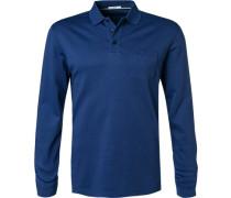 Polo-Shirt, Baumwoll-Jersey, royal