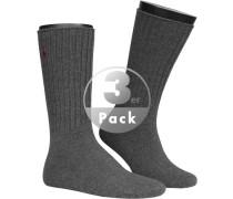 Socken, Baumwolle, anthrazit