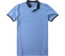Polo-Shirt, Baumwoll-Piqué, himmel