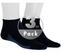 Sneakersocken, Baumwolle, marine