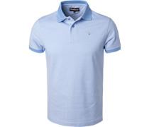 Polo-Shirt, Baumwoll-Piqué, bleu