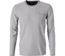 Pullover, Modern Fit, Baumwolle, -weiß gestreift