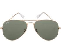 Brillen Sonnenbrille Aviator, Metall, gold-