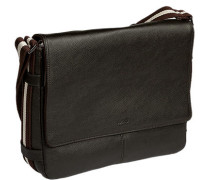 Messenger Bag, Leder, dunkel