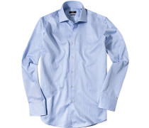 Hemd, Regular Fit, Twill, -weiß gestreift