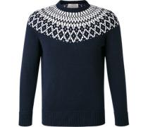 Pullover Schurwolle dunkel gemustert