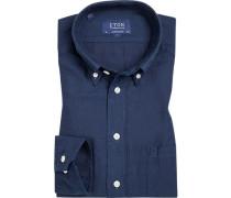 Hemd, Contemporary Fit, Baumwolle, dunkel
