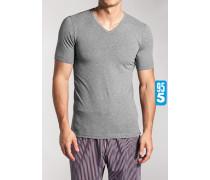 T-Shirt, Baumwoll-Stretch,  meliert