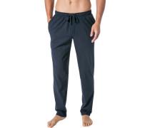 Pyjamahose, Baumwoll-Jersey, navy