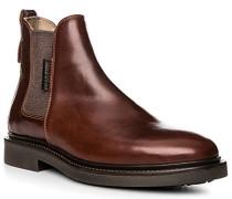 Herren Schuhe Chelsea-Boots, Rindleder, kastanienbraun