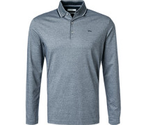 Polo-Shirt, Baumwoll-Jersey, navy meliert