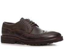 Schuhe Brogue, Nubukleder, dunkel