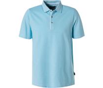 Polo-Shirt, Baumwoll-Piqué, aqua