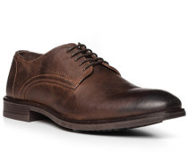 Schuhe Derby, Kalbleder, dunkel