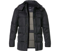 Daunensteppjacke, Regular Fit, Microfaser, navy