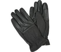 Handschuhe,Leder-Wolle, anthrazit-