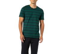 T-Shirt, Baumwolle, navy- gestreift
