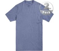 T-Shirt, Regular Fit, Baumwolle, jeans meliert