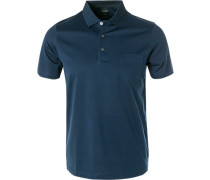 Polo-Shirt, Baumwoll-Jersey, navy gestreift