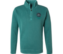 Pullover Troyer, Baumwolle, mint