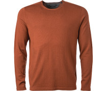 Pullover, Shaped Fit, Schurwolle, rot meliert