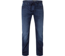 Jeans, Slim Fit, Baumwoll-Stretch, indigo