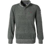 Pullover, Wolle, schilf meliert