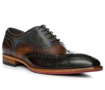 Schuhe Oxford, Leder, testa di moro