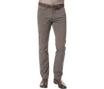 Hose Chino Lyon, Regular Fit, Baumwolle, dunkel