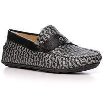 Schuhe Mokassin, Kalbleder,  gemustert