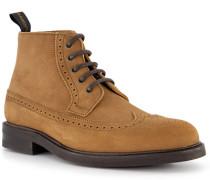Schuhe Schnürboots, Leder wasserabweisend, hell