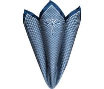 Accessoires Einstecktuch, Seide, -weiß gemustert