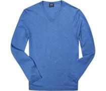 Pullover, Baumwolle-Leinen, capri meliert
