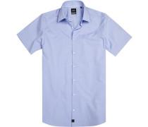 Hemd, Slim fit, Chambray, bleu