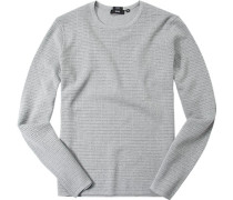 Pullover, Slim Fit, Baumwolle, hell