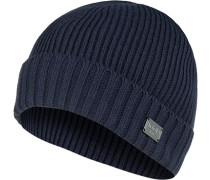 Mütze, Schurwolle, navy