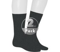 Socken, Baumwolle, anthrazit meliert
